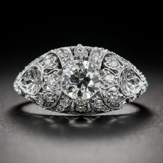 .75 Carat Diamond and Platinum Edwardian Engagement Ring - 1