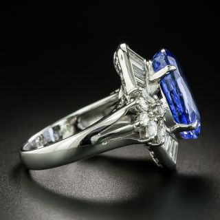 8.59 Carat No-Heat Ceylon Sapphire and Diamond Ring - GIA