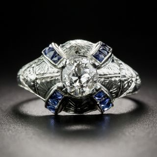 .80 Carat Art Deco Diamond Dome Ring