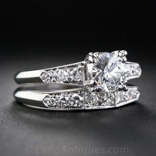 .80 Carat Center Platinum and Diamond Wedding Set