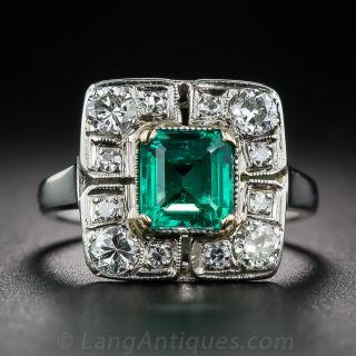 .80 Carat Emerald and Diamond Ring