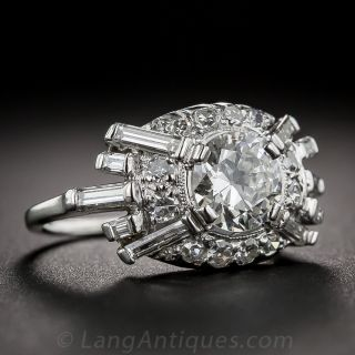 .86 Carat Diamond Late Art Deco Ring