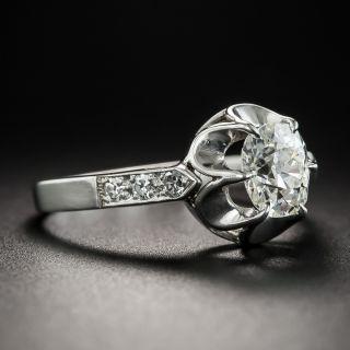 .88 Carat Antique Cushion Cut Diamond Victorian Style Ring