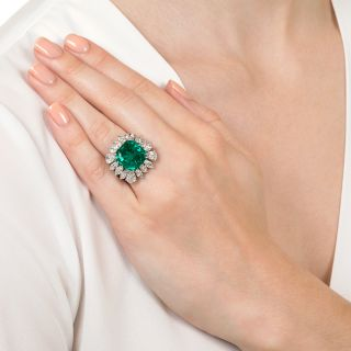 9.06 Carat Emerald and Diamond Ring - AGL Certified (Insignificant to Minor Treatment)