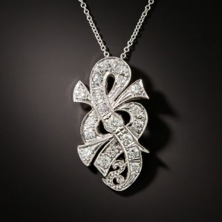 Diamond Treble Clef Pendant - 1