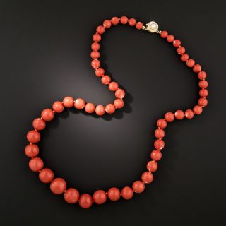 Graduating Coral Bead Necklace - 1