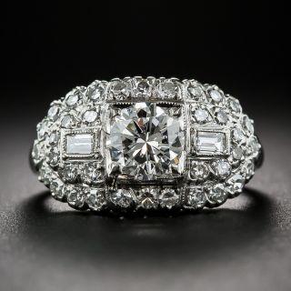 .97 Carat Diamond and Platinum Vintage Engagement Ring by Granat Bros.
