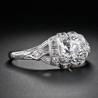 .97 Carat Old Mine Cut  Diamond Ring