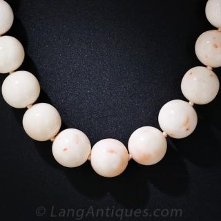 Angel Skin Coral Bead Necklace