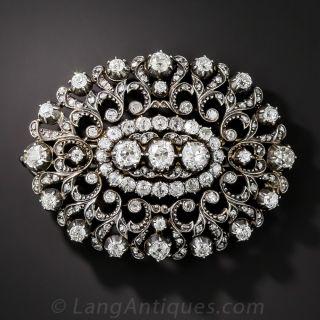 Antique Diamond Pendant/Barrette/Choker - 2