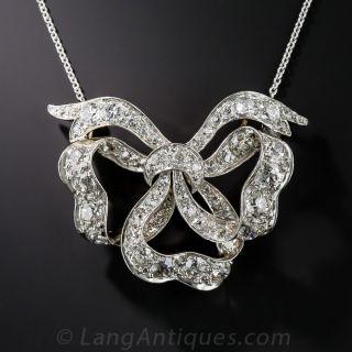 Antique Diamond Bow Necklace c.1900 - 1