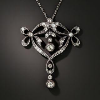 Antique Diamond Bow Necklace, Circa 1890 - 2