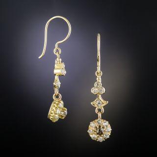 Late Victorian Diamond Dangle Earrings