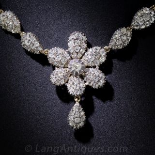 Antique Diamond Flower Necklace