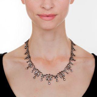 Antique Diamond Fringe Necklace