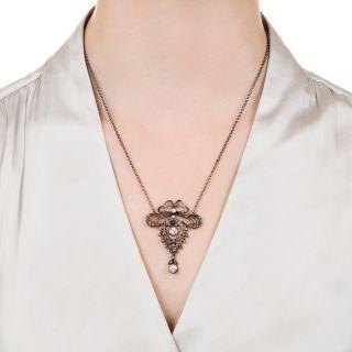 Antique Diamond Lavaliere Necklace