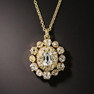 Antique Diamond Pendant - 1