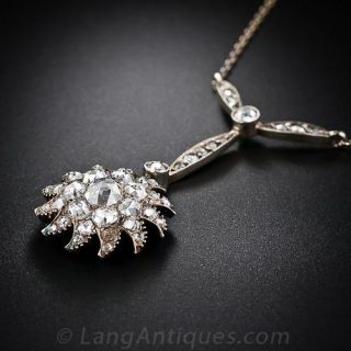 Antique Diamond Starburst Necklace