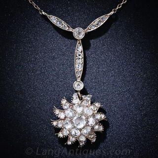 Antique Diamond Starburst Necklace - 1