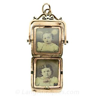 Antique Double Sided Watch Fob Locket