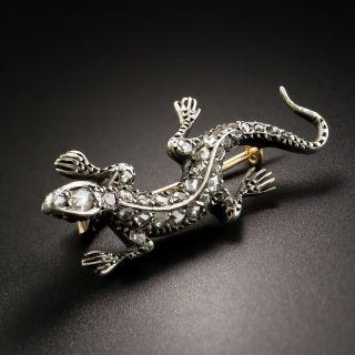Antique French Diamond Salamander Pin - 3