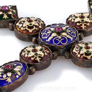 Antique French Renaissance Revival Cross Pendant