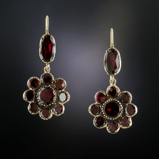 Antique Garnet Drop Earrings - 3