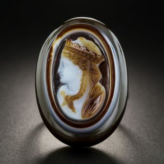 Antique Hardstone Cameo Ring - 2