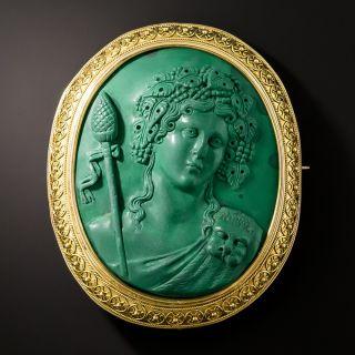 Antique Malachite Cameo of Dionysus - 2