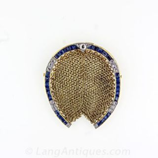 Antique Mesh Horseshoe Coin Purse - 1