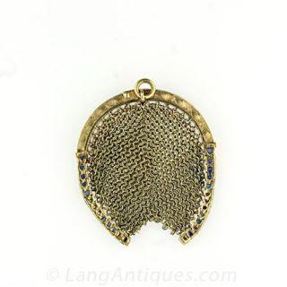 Antique Mesh Horseshoe Coin Purse