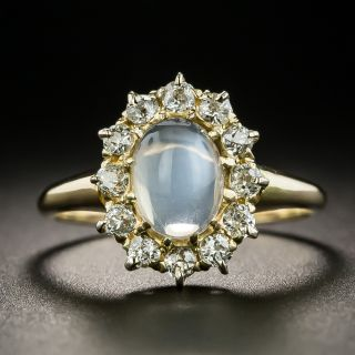 Antique Moonstone and Diamond Ring