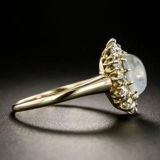 Antique Moonstone and Diamond Ring, Circa 1900