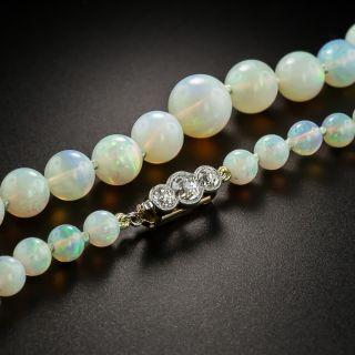 Antique Opal Bead Necklace