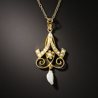 Antique Pearl Pendant - 3