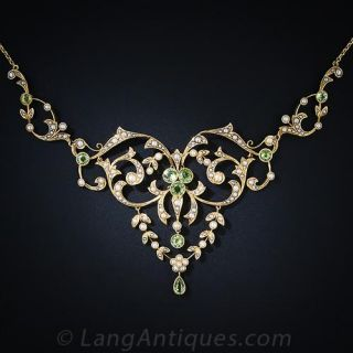 Antique Peridot Necklace