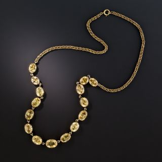 Antique Precious Topaz Necklace