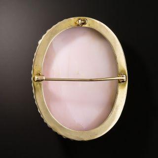 Antique Queen Conch Cameo Brooch/Pendant