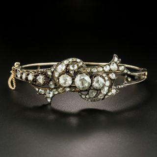 Antique Rose-Cut Diamond Bangle Bracelet - 2