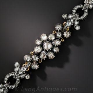 Antique Rose-Cut Diamond Bracelet - French Import - 2