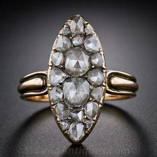 Antique Rose-Cut Diamond Dinner Ring - 1