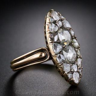 Antique Rose-Cut Diamond Dinner Ring