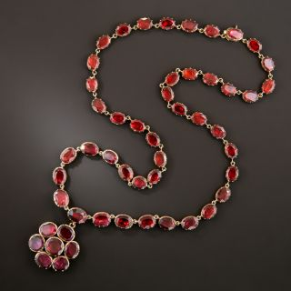 Antique Rose Gold and Garnet Necklace - 2
