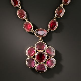 Antique Georgian Rose Gold and Garnet Necklace