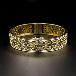 Antique Sapphire Bangle Bracelet