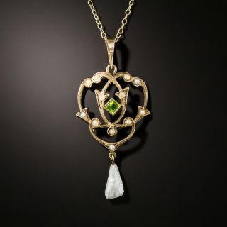 Antique Seed Pearl Pendant - 3