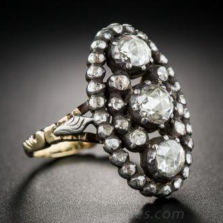 Antique Style Rose-Cut Diamond Dinner Ring