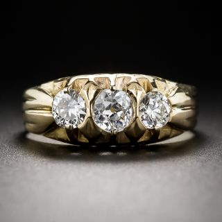 Antique Three-Stone Diamond Ring  - 1