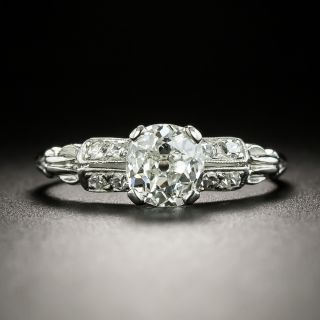 Art Deco 1.00 Carat Diamond Engagement Ring - GIA G SI1 - 2