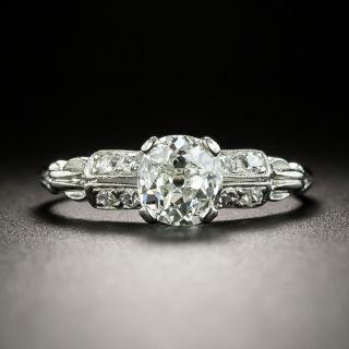 Art Deco 1.00 Carat Diamond Engagement Ring - GIA G SI1 - 2